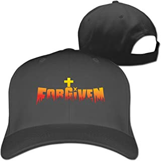 Classic Outdoor Christian Cross Forgiven Flex Fitted Peak Hat Cap Ash