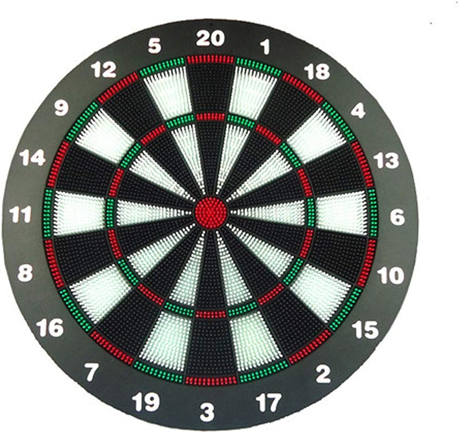 Ybriefbag Dartboard Set Dart Board Soft Tip Safety Kids Dart Board Set Boys Toys Gifts, 16.4 inch Rubber Dartboard with 6 Soft Tip Safe Darts Great Game for Office and Family Leisure Sport