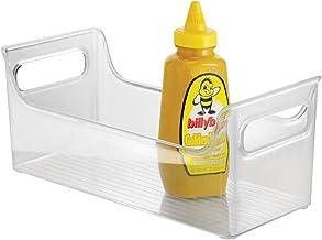 iDesign Plastic Fridge Binz Condiment Caddy, Clear - ID00885ES