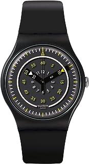 ساعة كوارتز للرجال من سواتش، عرض انالوج وسوار مصنوع من السيليكون SUOB157