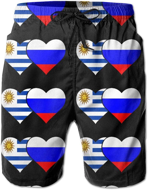 debeb56d85c SESY SESY SESY Men's 3D Printing Uruguay Flag Russian Flag Beach Shorts  Casual Shorts 0d7ff5