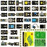KEYESTUDIO 37 en 1 Kit de Sensor V2.0 para Arduino, Kit de Sensor actualizado con módulo de semáforo, módulo táctil Capacitivo, Sensor de Interruptor de inclinación de Bola