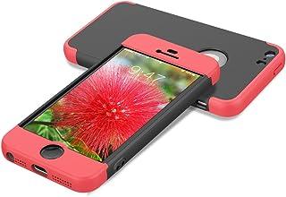 43812d4a318 HopMore Fundas iPhone 5s / SE / iPhone 5 3 en 1 Duras Case 360 Mate Ultra Slim  Antigolpes Design Resistentes PC Cover para iPhone 5s / iPhone Se / iPhone 5  ...
