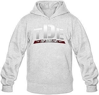 TMILLER Men's Top Dawg Entertainment TDE Logo Hoodied Sweatshirt