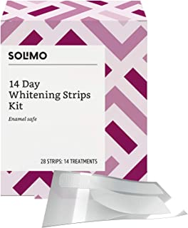 Amazon Brand - Solimo 14 Day Teeth Whitening Strips Kit, 14 Treatments