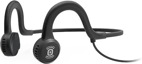 AfterShokz Sportz Titanium Open Ear Wired Bone Conduction Headphones, Onyx Black, (AS401XB)