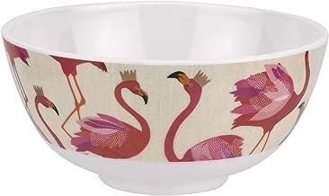 طقم أطباق طائر الفلامينغو من بورتمييون سارة ميلر - مجموعة من 4 أوعية