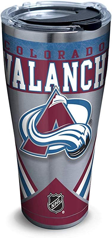 Tervis 1283240 NHL Colorado Avalanche Ice Stainless Steel Insulated Tumbler With Clear And Black Hammer Lid 30oz Silver