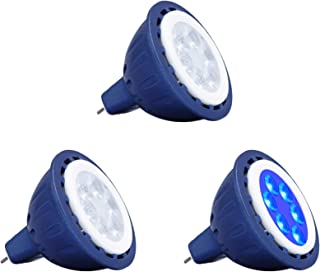 Makergroup MR16 Blue LED Bulbs Gu5.3 Bi-pin 12V Low Voltage Lighting Spotlights 35W 50W MR16 Halogen Replacement Bulbs for...
