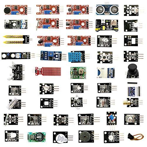 45 En 1 Módulos De Sensor Junta Kit, Compatible Con Arduino Uno R3 Y Frambuesa Pi, Los Principiantes Sensores Módulos Starter Kit