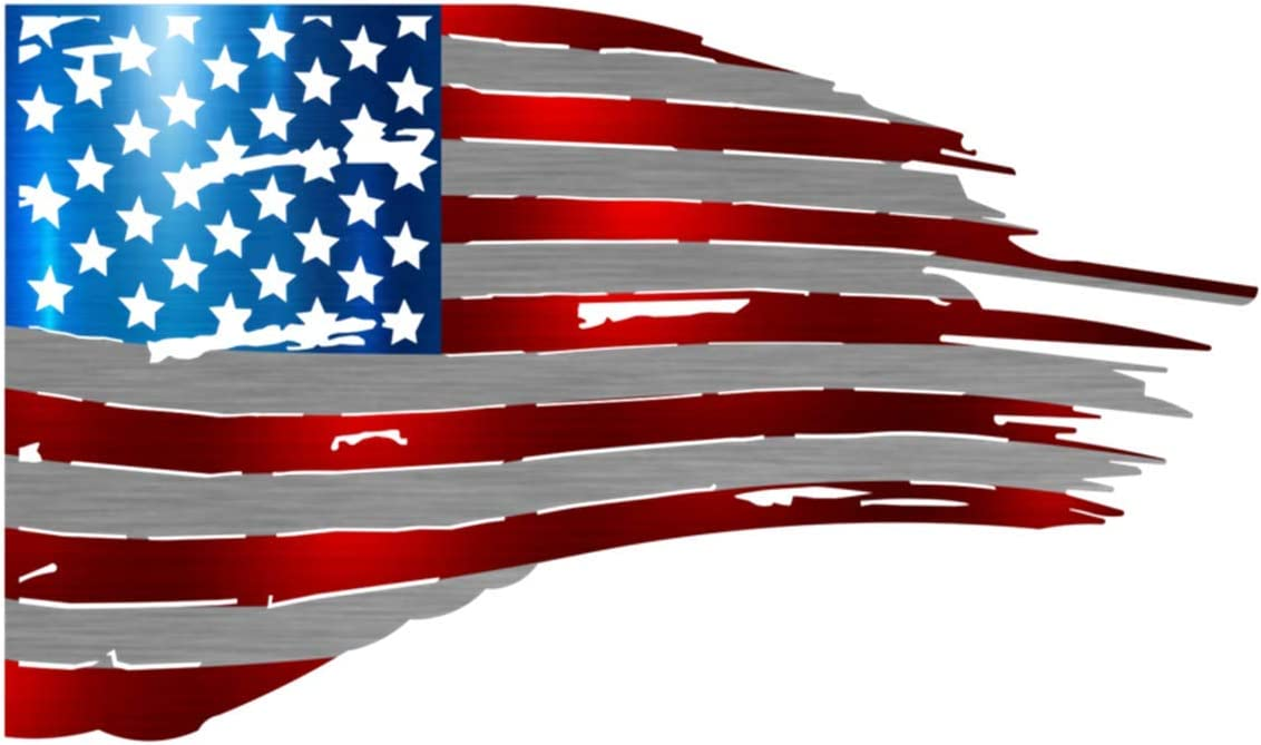 United States of America Tattered Flag