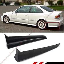 Fits for 1999-2000 Civic EK Si DX EX LX 2 Door Coupe JDM Rear Bumper Side Aprons Spats Valance Caps