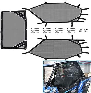 kemimoto UTV Window Net Roll Cage Mesh Guard Front and Rear Window Shield Net for a RZR 570 800 900
