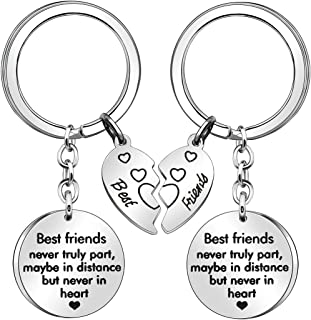 for Women Men 2 Pcs Broken Heart Keychains KeyChain Rings Friendship Gifts Thanksgiving Birthday Gifts