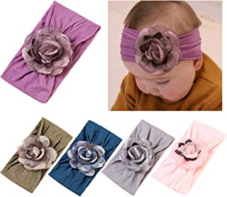 161357472dafc3 DANMY Baby Girl Nylon Headbands Newborn Infant Toddler Hairbands with Bows  Children Hair Accessories