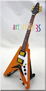 Dave Davies Kinks Flying V Guitarra en miniatura