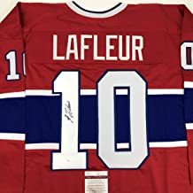 Autographed/Signed Guy LaFleur Montreal Red Hockey Jersey JSA COA