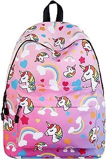 WAWJ Store Unicorno Zaino 2019 Scuola Borse Leggero per Bambini Zaino Casual per Ragazzi Adolescenti Ragazze (Rosa)