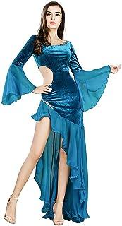 besbomig Donna Gonna per Danza Moderna Partito Sala da Ballo Vestito da Ballo Gonna a Lungo Swing Elegante Gonna Lunghe per Latino Flamenco Tango Valzer