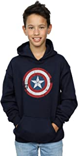 90075f276b393 Marvel Garçon Captain America Civil War Distressed Shield Sweat À Capuche