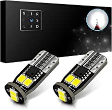 SiriusLED Extremely Bright 5730 Chipset LED Bulbs for Car Interior Lights License Plate Dome Map Side Marker Door Courtesy Wedge T10 168 192 194 2825 W5W 6000K Xenon White Pack of 2 (2018 version)
