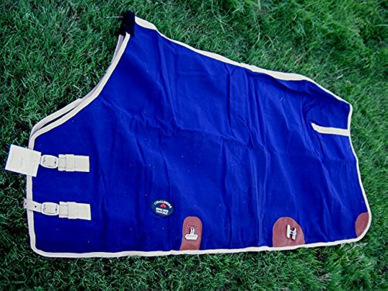 CHALLENGER Canvas Duck Turnout Water Resistant Horse Winter Blanket Navy 2507