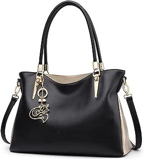 FOXER Women Handbag Leather Purse Lady Tote Shoulder Bag Top Handle Bag Valentine's Day Gifts