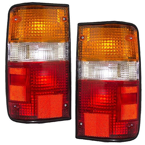 Taillights Tail Lamps Driver and Passenger Replacements for 89-95 Toyota Pickup Truck 8156089166 8155089166