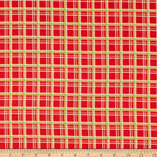 Riley Blake Merry Little Christmas Plaid Red Quilt Fabric By The Yard