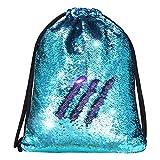 Alritz Mermaid Sequin Drawstring Bags Reversible Sequin...