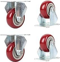 SHANCL 4 stuks meubelwiel, wielen wielen, trolley wielen, geschikt voor huishoudelijke kantoorindustrie richtwiel (kleur: ...