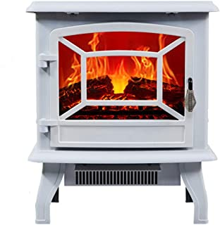 Thermostat heater Portable Electric Stove Stove Fireplace Electric Fire with Wood 3D Wood Flame Effect and 2 Heat Settings...