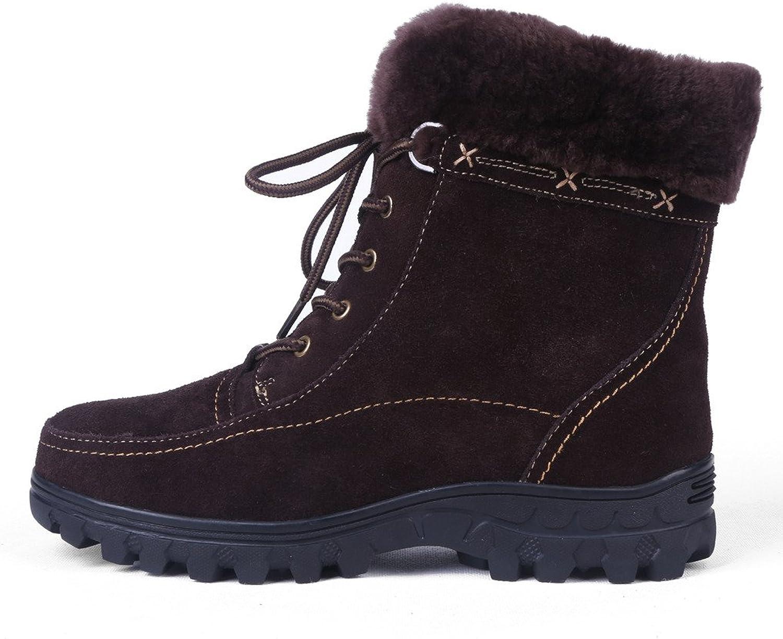 BULL TITAN Woherrar Fur Lined Comfortable Zipper Winter stövlar