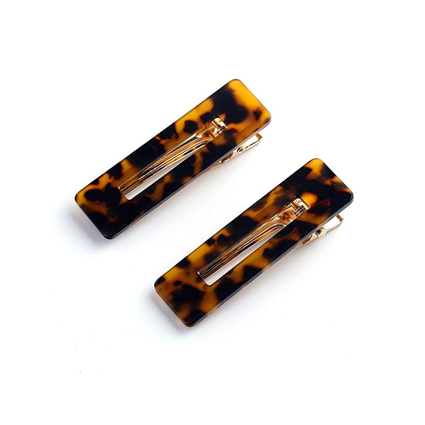 Rectangle Hair Clip Alligator Clip Barrettes Hairpin for Women Girls Geometric Sequin Foil Hair Pins,amber