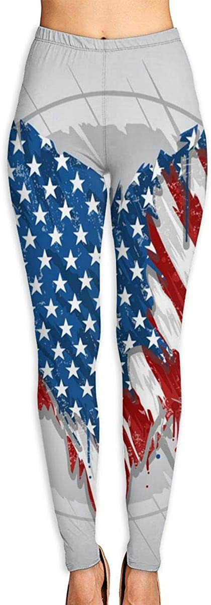 AUISS Lady Yoga Pants Leggings Al sold out. Star Flag Running America Max 55% OFF USA Wor