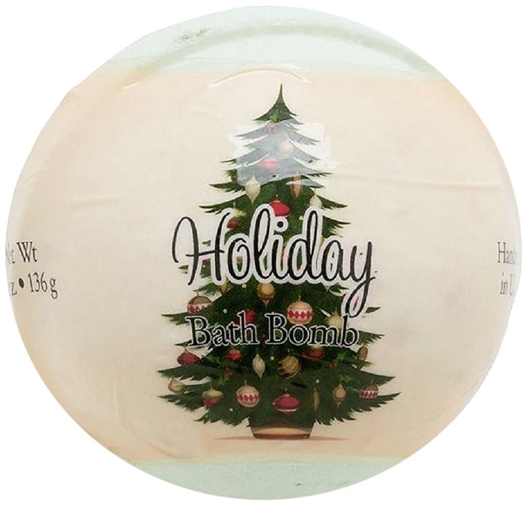 吸収放棄された復活するプライモールエレメンツ バスボム/ホリデイ 136g シアバターとココナツ&アルガンオイル配合のお肌に潤いを与える発泡性入浴剤