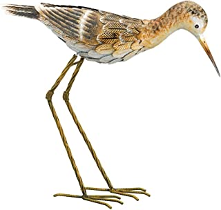 Regal Art & Gift Sandpiper 17.5 inches x 5 inches x 15 inches Metal Bird Facing Down - Lawn and Garden Decor