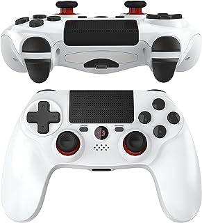 JOYSKY wireless PS4 Controller, gamepad Bluetooth con pulsanti altamente sensibili, telecomando ricaricabile, doppia vibra...