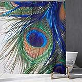 Pfau Duschvorhang aus wasserdichtem Gewebe, Pfau Feder Auge Duschvorhang, für Badezimmer.59x70Zoll