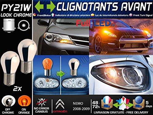 Pack 2 Ampoules PY21W Chromé - Clignotants Avant - NEMO