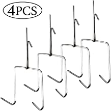 TIHOOD 4PCS Smoker Hooks, Stainless Steel Bacon Hanger, Duck Hooks,Meat Hooks for Smoking Hanging Bacon Hams Meat Processing BBQ Grill
