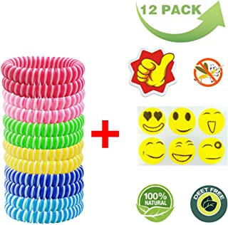 ExtraDisist Mosquito Bracelet for Kids, Adults & Pets, Natural Plant Based Oil Mosquito Repellent Wristbands, Bug & Insect Protection,Pest Control-12 Packs