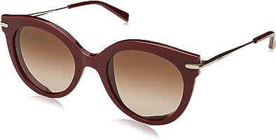 نظارة شمس بعدسات بانتو شبه دائرية بني متدرج للنساء من ماكس مارا - بورجندي وذهبي