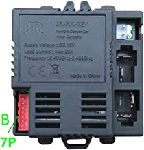 jiaruixin B Socket JR-RX-12V Receiver Match 2.4G Bluetooth Remote Control Accessories , Control Box Motherboard Kids Ride On Car Replacement Parts