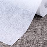 Fusible Interfacing for Sewing Iron On Nonwoven Single Side Lightweight,White,39.37'x6.56 Yard