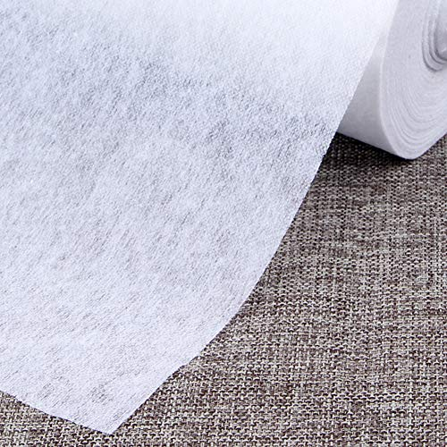 """Fusible Interfacing for Sewing Iron On Nonwoven Single Side Lightweight,White,39.37""""x6.56 Yard"""