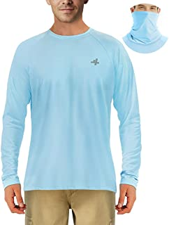 4ucycling Sun Shirts Protection for Men, Men's Long Sleeve UV 50 + for Outdoor Fishing Hiking Running Sunburn/Rash