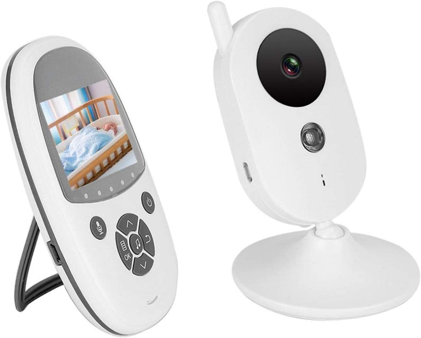 Under blast sales Baby Monitor Wireless Cry Detection Built-in Inf Microphone Mini Spring new work