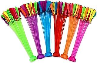 200 Bombes à Eau,Ballon multicolore,Bouquet de ballons à eau auto-scellants faciles et rapides à remplir,avec 2 Connecteur...