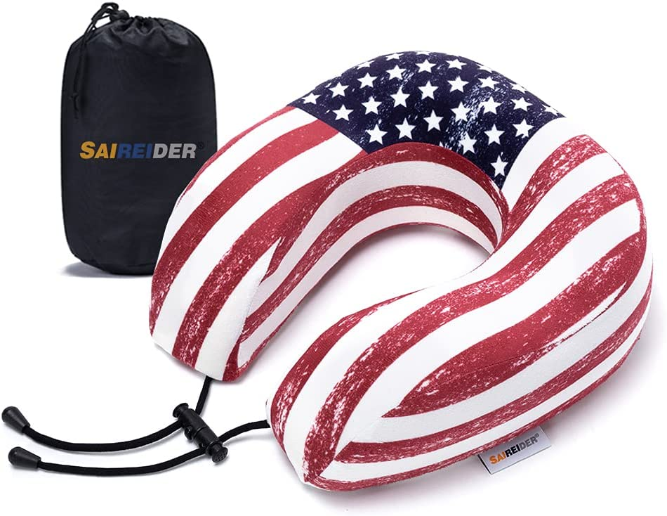 SAIREIDER Travel Neck Pillow for 25% OFF 100% F Airplane Sleeping In a popularity Memory